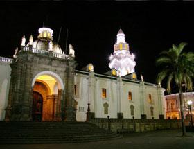 Quito downtown church